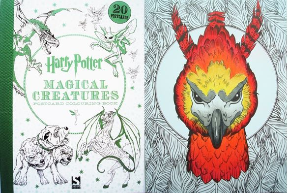 Harry Potter Magical Creatures Postcard Colouring Book A Review