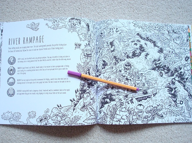 Exploratorium - Ideal for child and adult colourists, fans of Doodle Fusion and Kerby Rosanes's artwork will love this book. Click through for the review, video and photos!