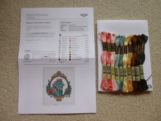 Queen of the Skies Cross Stitch Kit by Hanna Karlzon and The Folklore Company - Click through to read the review and see photos