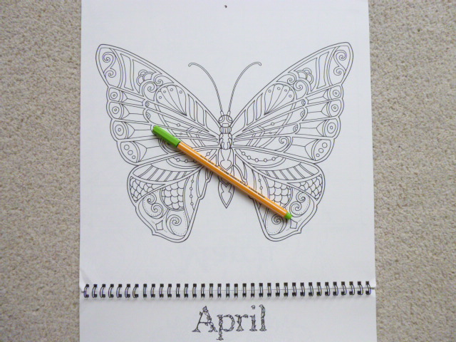 Ivy and the Inky Butterfly Coloring Wall Calendar 2019 Review, Photos and Video Flip Through